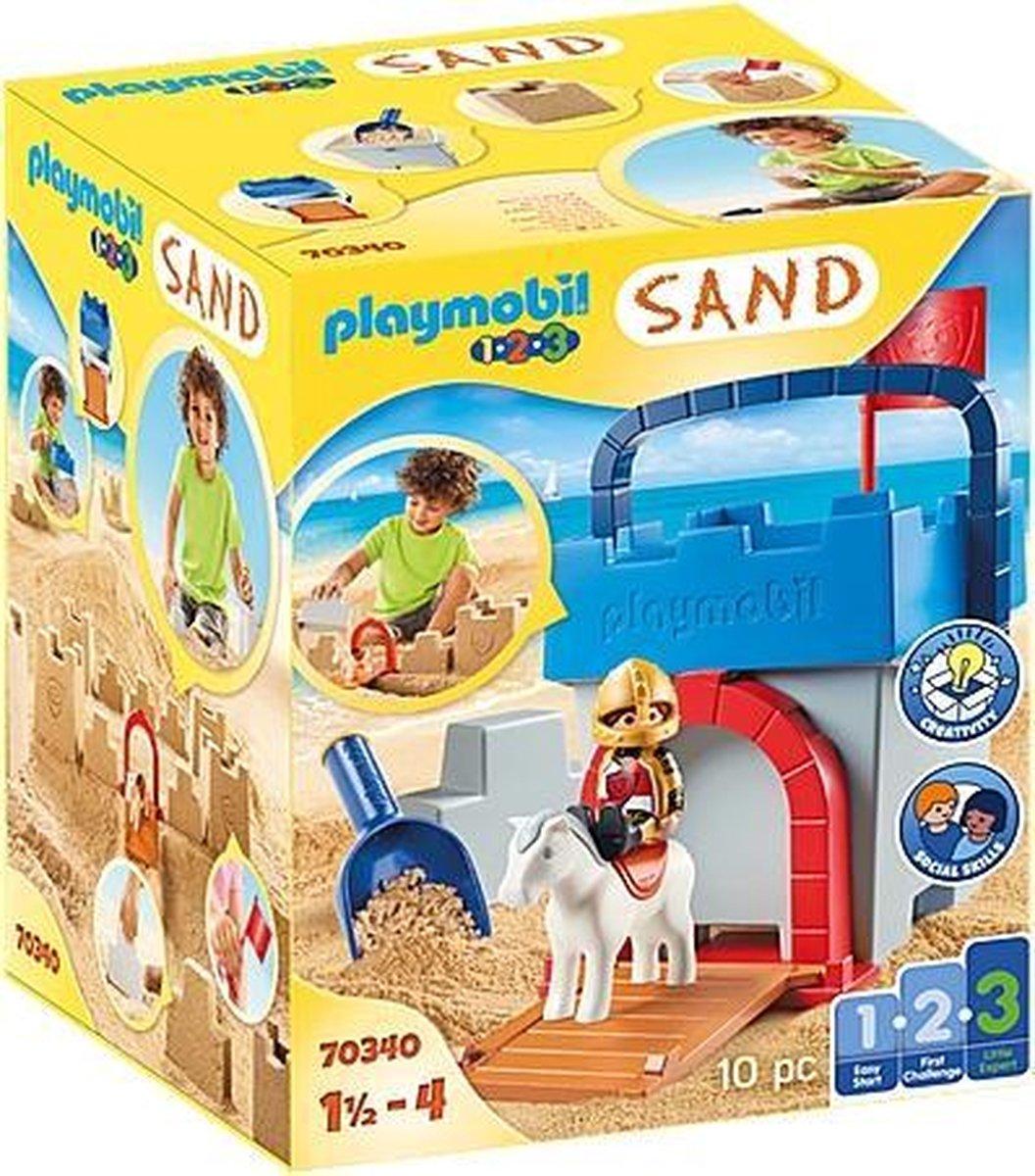 PLAYMOBIL 1.2.3 SAND Zandkasteel - 70340