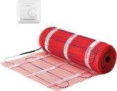 1m² StickyMat 150Watt/m²   Vloerverwarmingsmat Set 1m²   150Watt/m² + Gratis Warmup MSTAT AAN/UIT thermostaat   Levenslange garantie   Elektrische vloerverwarming   Warmup