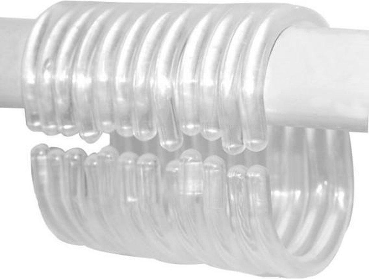Douchegordijn Ringen Set/12 stuks - Transparant - Ringen Douche Gordijn - Shower Curtain Rings