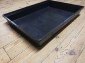 1 x Kweekbak zwart dik plastic  56cm x 42cm x 9cm - Zaaitray zaaibak kweektray stektray - Deense bak