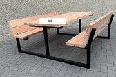 Douglashout - picknicktafel - metaal - 200 m - kwaliteit