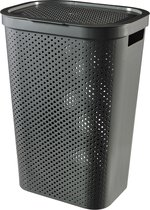 Curver Infinity Recycled Wasbox - 60L - Antraciet