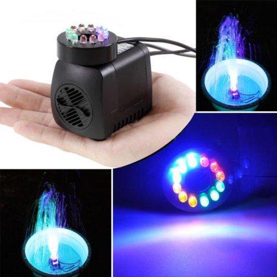 Dompelpomp met 12 LED-verlichting Kleurrijk, gochange 220 V, 15 W, 800L / H, H hoogte 1,6 m / schoon water pompen voor het aquarium, vijver ...