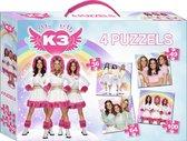 K3 - Puzzel - 4 in 1 - 36+49+64+100 stukjes - in een koffertje