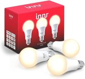 Innr slimme lampen E27 white - werkt met Philips Hue*- Zigbee smart LED - 3 pack