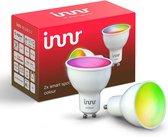 Innr slimme lampen GU10 color - werkt met Philips Hue* - Zigbee smart LED - 2 pack
