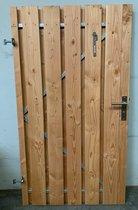 Douglas tuinpoort schuttingdeur incl cilinderslot en stalen frame 100 x 180 ( linksdraaiend )