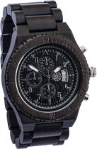 Greenwatch Timer Zwart   Houten Horloge Heren