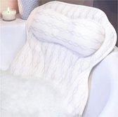 LuxerLiving Badkussen - Met zuignappen - Met 3D ventilatie - Ergonomisch - Badkussens - Voor in bad - Wit