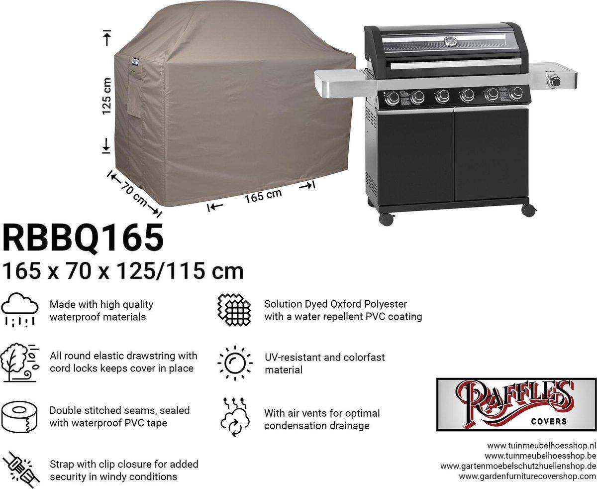 Beschermhoes BBQ 165 x 70 H: 125/115 cm RBBQ165