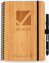 Bambook Hardcover Do-book formaat A5  - bamboe - met stift