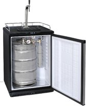 Biertap koelkast met RVS front deur 1 kraans uitvoering