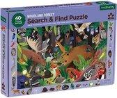 Mudpuppy zoek & vind Bosdieren puzzel - Woodland - 64pcs