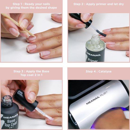 Gellak - MEANAIL® Kit Ruby - UV/Led lamp 48w – 6 kleuren Vegan - Gelnagellak