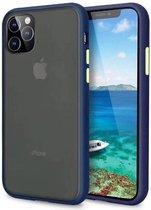 4mobilez Iphone 11 PRO set beschermhoes + screenprotector - Blauw/Geel
