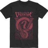 Bullet For My Valentine Heren Tshirt -XL- Red Snake Zwart