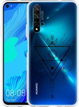 Huawei Nova 5T Hoesje Abstract Moon Black