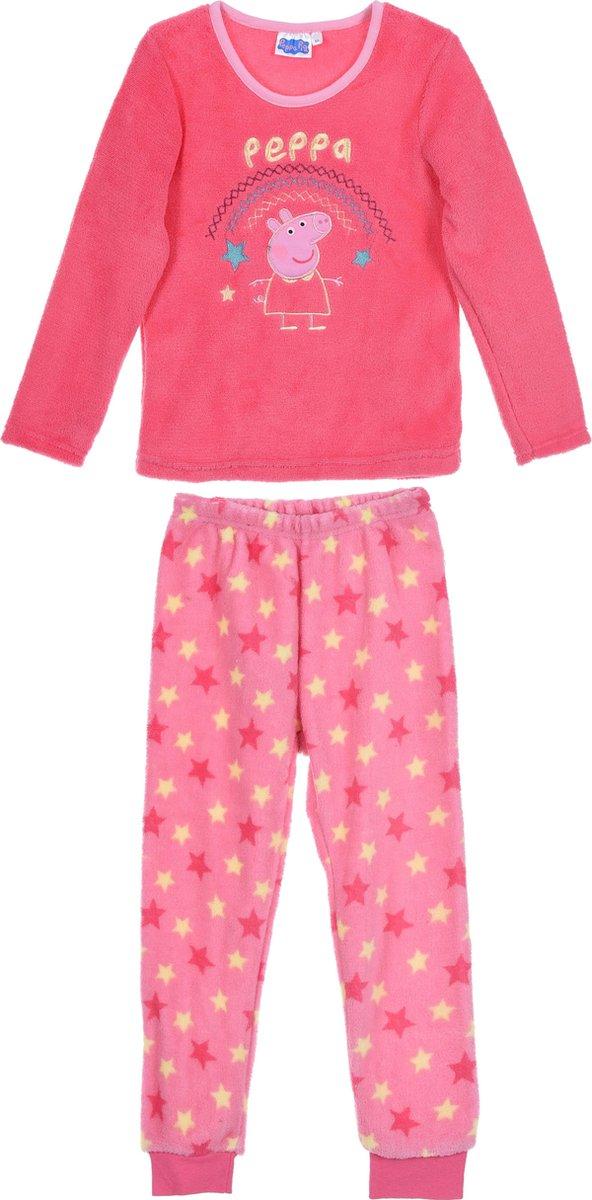 Pyjama Peppa Pig coral fleece maat 98