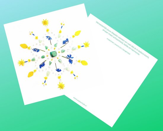 Edelsteen- en inspiratiekaarten | 6 stuks | 14,7 x 14,7 cm | set 5