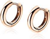 ZINZI zilveren oorringen rosé verguld 12 x 2mm ZIO194R