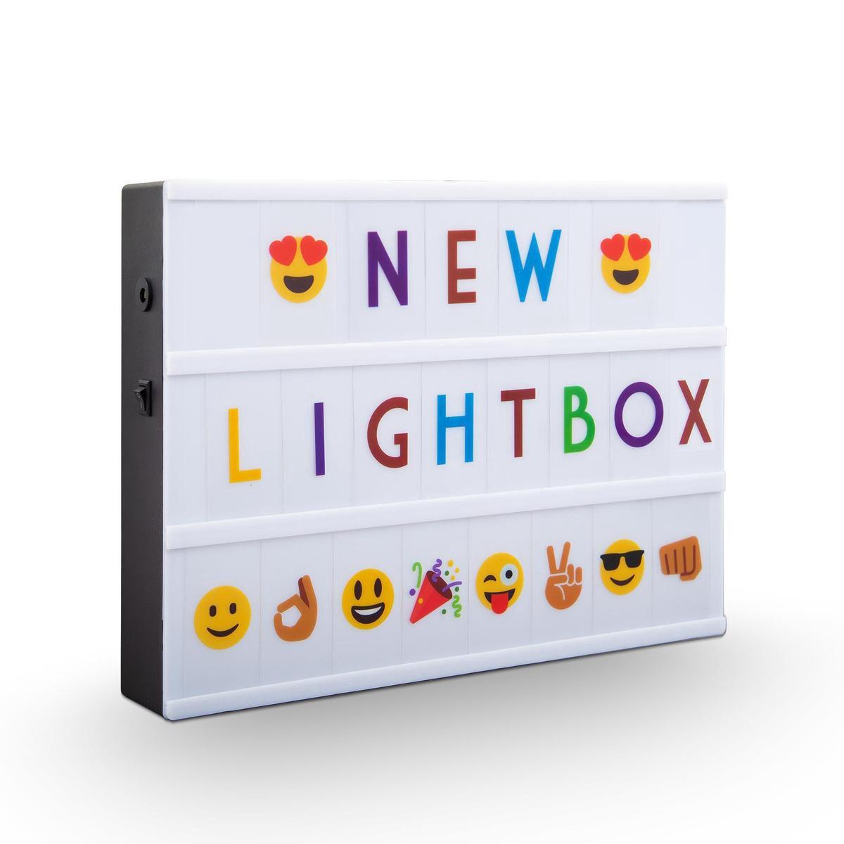B.K.Licht - LED Lightbox - moederdag cadeautje - A4 - USB - batterij - cadeau - 220 letters - in zwart en gekleurd