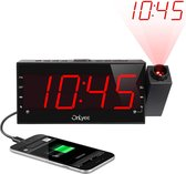 Wekker radio Projection alarmklok radio Met USB aansluiting telefoon oplader