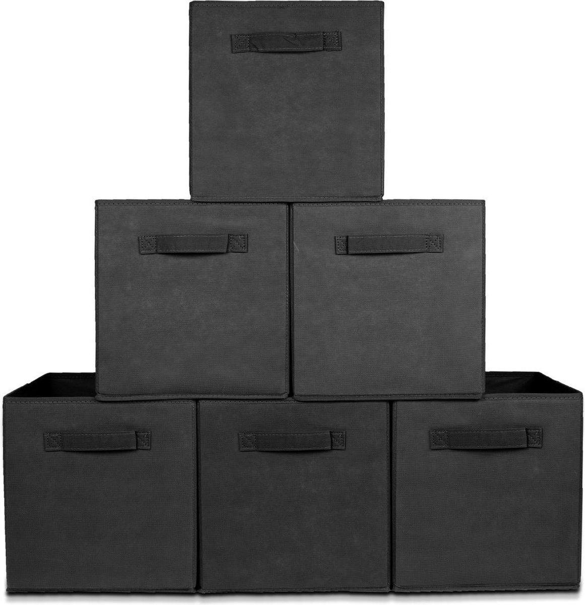 LifeGoods Kast Organizers - Set: 6 Stuks - Multifunctioneel Opberg Box/Doos/Mand/Vakken - Opbergsyst