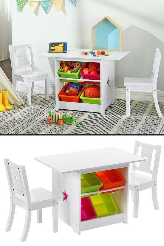 Ongebruikt bol.com | Kindertafel met stoeltjes van hout - 1 tafel en 2 IX-82