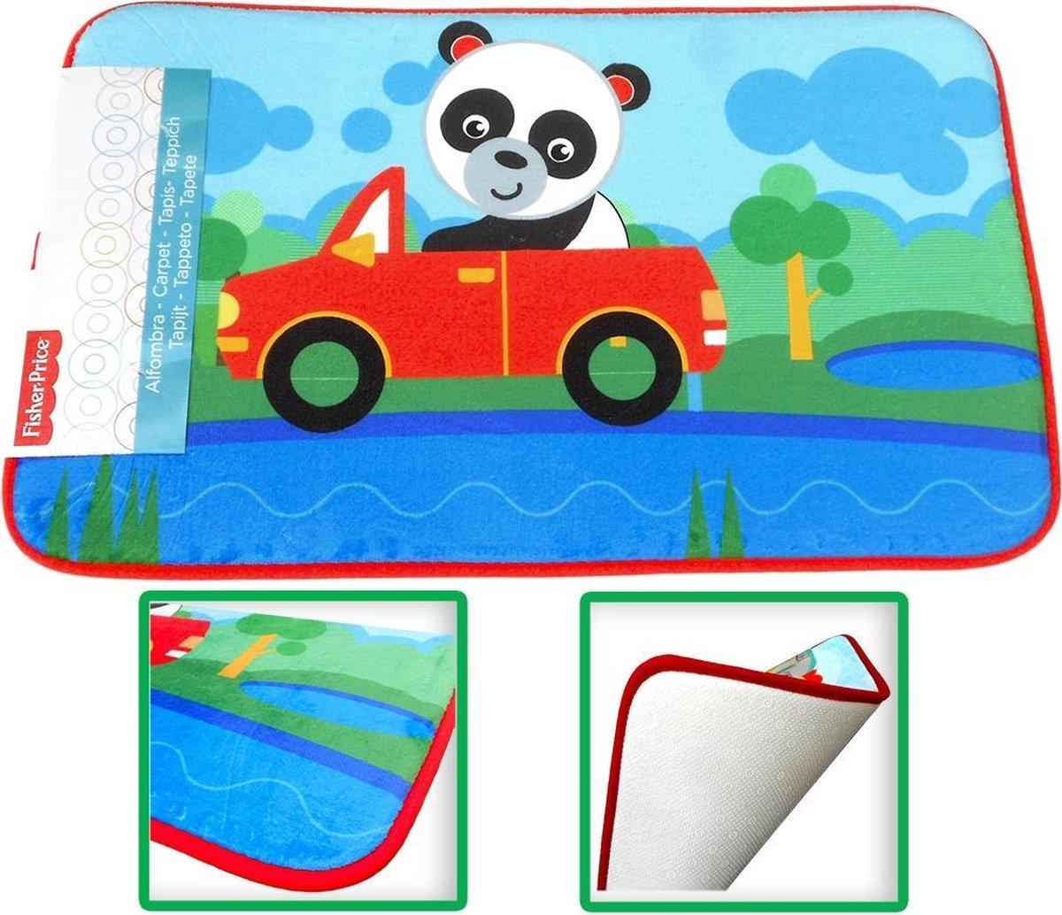 Fisher Price Panda speelkleed tapijtje baby - super zacht materiaal - 45 x 75 cm groot
