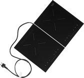 ETNA KIV12ZIL - vrijstaande inductie kookplaat - Zwart/Zilver