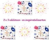 Edelsteen- en inspiratiekaarten | 6 stuks | 14,7 x 14,7 cm | set 7