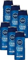 Bol.com-NIVEA MEN Strong Power - 6 x 250 ml - Voordeelverpakking - Shampoo-aanbieding