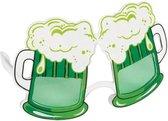 Bierglas bril groen