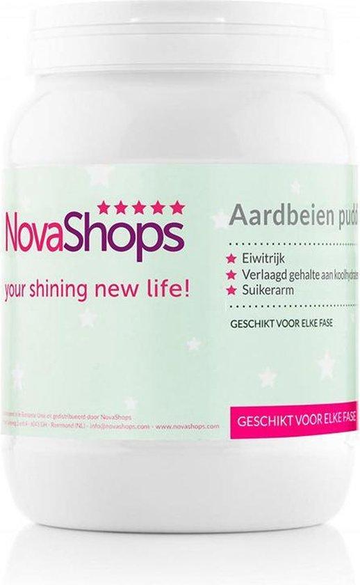 NovaShops eiwitdieet | Afslank & Proteïne pudding | Aardbeien Pudding (17 porties)