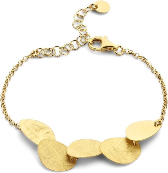 Casa Jewelry Armband Sugarbowl - Zilver - Goud Verguld