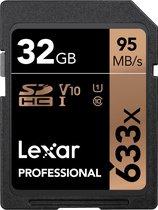 Lexar Professional 633x SDHC 32GB -  95 MB/s UHS-I