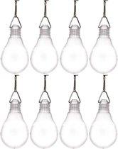 8x Buiten verlichting solar lampenbolletjes wit 11,8 cm - Tuinverlichting/feestverlichting lampjes op zonne-energie