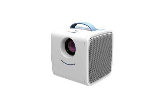 Sinji Mini Beamer - Draagbare LED Projector - Presentaties/Films/Games - Ingebouwde Speaker - Wit/Blauw
