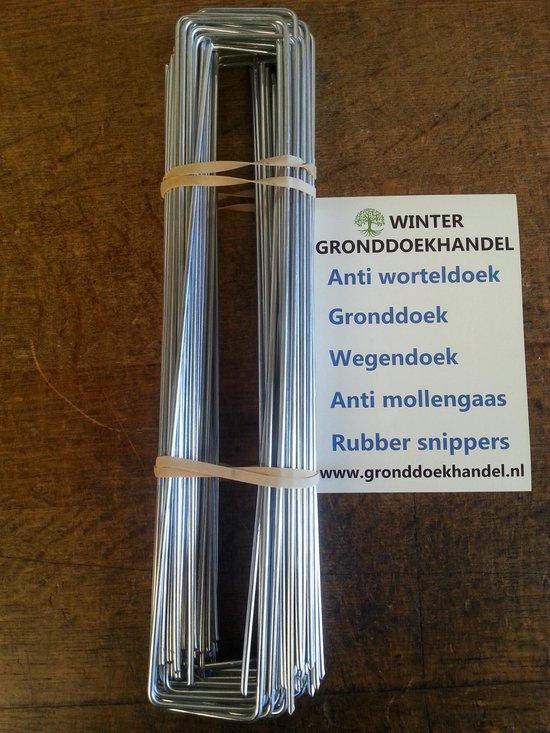 Anti-Worteldoek Haken / Gronddoekpennen 30 x 5 x 30 cm , 50 STUKS ! - gronddoekhandel.nl