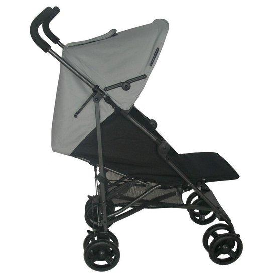 Bebies First Buggy - Plooibuggy - Lichtgewicht - 5 standen - Comfortabele Rugleuning - Zwart/Grijs - Bebies First
