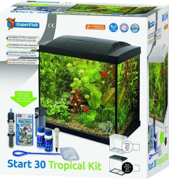 SuperFish Start 30 Tropical Kit - 36 x 23 x 39 cm - 30 L - Wit