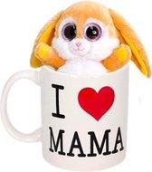 Best mom koffiemok / theemok met pluche konijntje - Moederdag cadeaus
