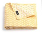 KipKep Blenker hydrofiele handdoek maat L (170x100cm) - Indian Wig - Yellow