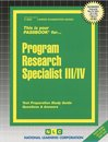 Program Research Specialist III, IV