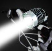 Super felle LED Fietslamp zilver