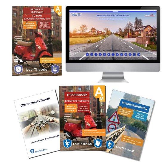 Scooter Theorieboek 2021 met Scooter theorie samenvatting - Verkeersbordenboekje en een uitgebreide oefen Bromfiets Theorie CD-ROM