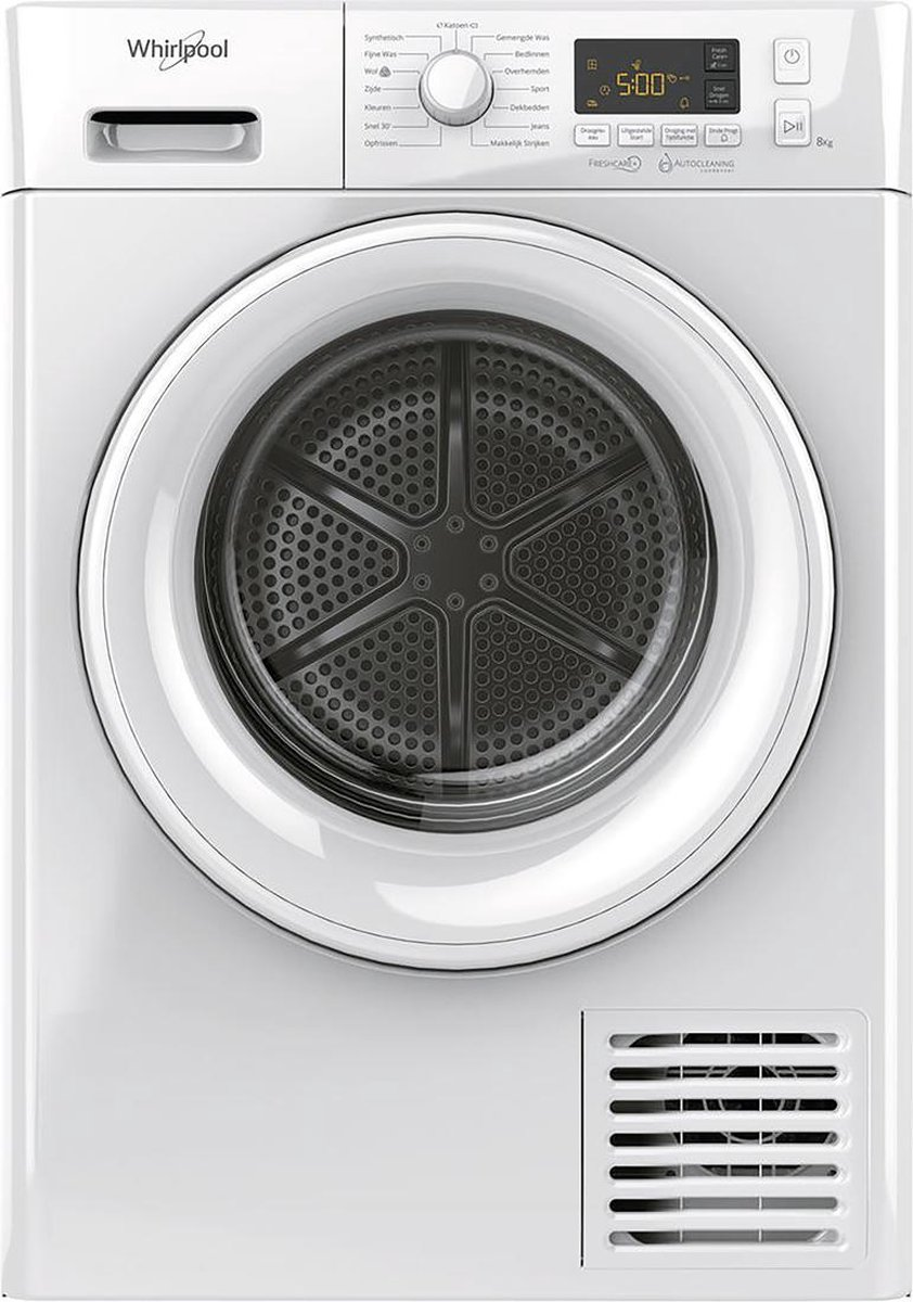 Whirlpool FTNL M11 82 Warmtepompdroger – A++ – 8kg