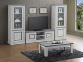 TV-wand ENAL bestaande uit Tv-meubel  met 2 x kolom glasdeuren