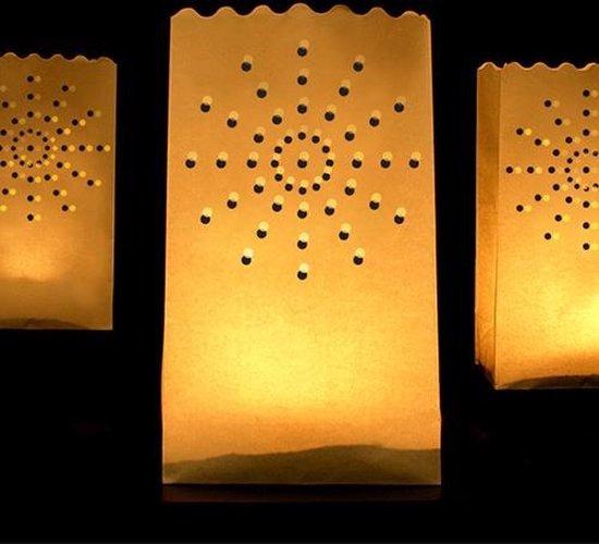 Candle bag 10 stuks zon