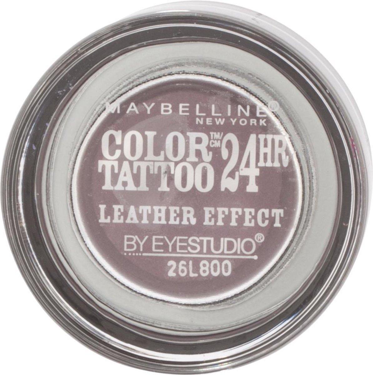 Maybelline Color Tattoo Leather 97 Vintage Plum oogschaduw Violet Shimmer - Maybelline